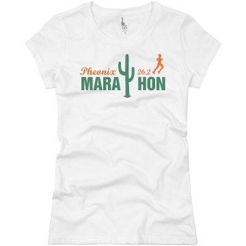 Cactus Marathon  Junior Fit Basic Bella Favorite Tee