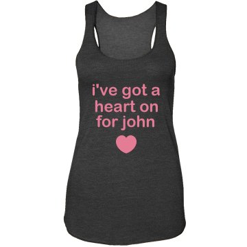 Heart On For John Junior Fit Bella Sheer Longer Length Rib Strap Tank Top