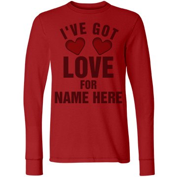 I've Got Love For Joe Junior Fit Bella Long Sleeve Thermal Tee