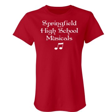 School Musicals w/Back Junior Fit Bella Crewneck Jersey Tee