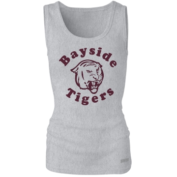 Bayside Tigers Junior Fit Bella Sheer Longer Length Rib Tee