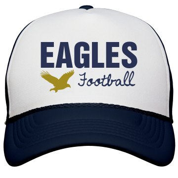 Eagles Football Hat KC Caps Poly-Foam Snapback Trucker Hat