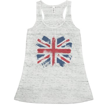 Paint Brush Union Jack Misses Bella Flowy Lightweight Tank
