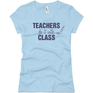 Teachers Do It With... Junior Fit Basic Bella Favorite Tee
