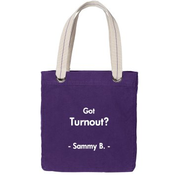 Got Turnout? Port Authority Color Canvas Tote