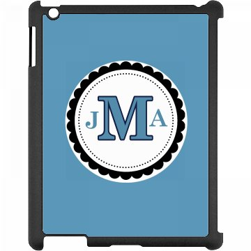Monogram iPad Case Black iPad Snap-on Case