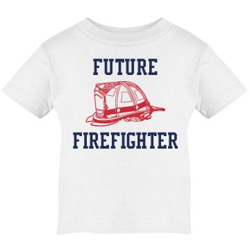Future Firefighter Infant Rabbit Skins Lap Shoulder Tee