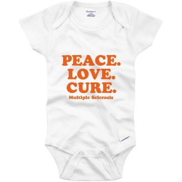 Peace Love Cure Onesie Infant Gerber Onesies