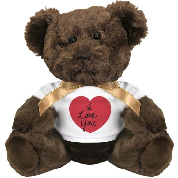 Heart Love Bear Medium Plush Teddy Bear