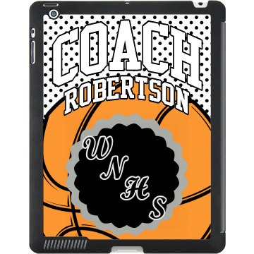 B-Ball Coach iPad Case Black iPad Smart Cover