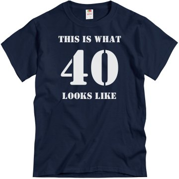 What 40 Looks Like-Men's Unisex Gildan Heavy Cotton Crew Neck Tee