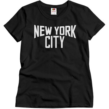 New York City Misses Relaxed Fit Gildan Ultra Cotton Tee