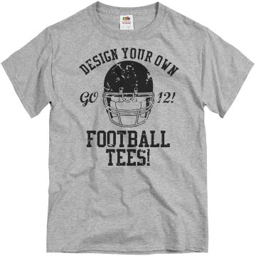 Frisco Football Distress Unisex Basic Gildan Heavy Cotton Crew Neck Tee