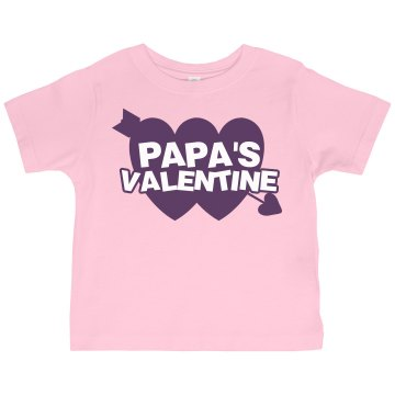 Papa&#x27;s Valentine Toddler Gildan Ultra Cotton Crew Neck Tee