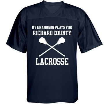 Grandpa Lacrosse Fan Unisex Augusta Replica Football Jersey