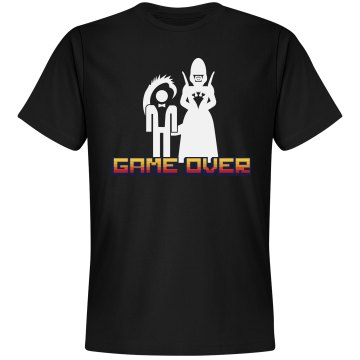 Game Over Alien Bride Unisex Gildan Heavy Cotton Crew Neck Tee