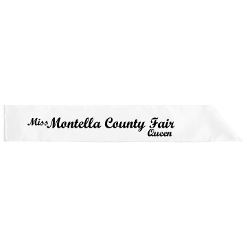 County Fair Queen Sash Adult Satin Party Sash