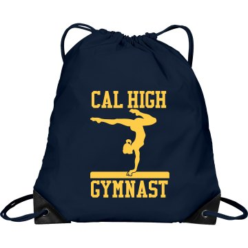 Cal High Gymnast Port &amp; Company Drawstring Cinch Bag