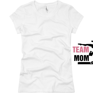Team Mom Beam Junior Fit Basic Bella Favorite Tee