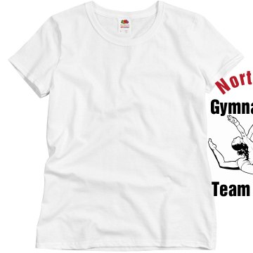 North HS Team Mom Misses Relaxed Fit Basic Gildan Heavy Cotton Tee
