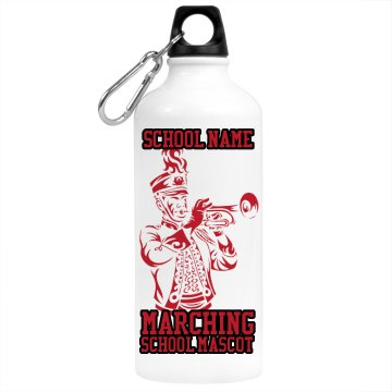 Football Marching Band Aluminum Water Bottle