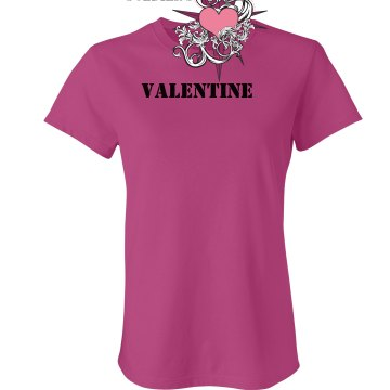 Soldier's Valentine Junior Fit Bella Sheer Longer Length Rib Tee