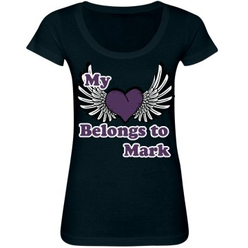 My Heart Belongs to Junior Fit Bella Sheer Longer Length Scoopneck Tee