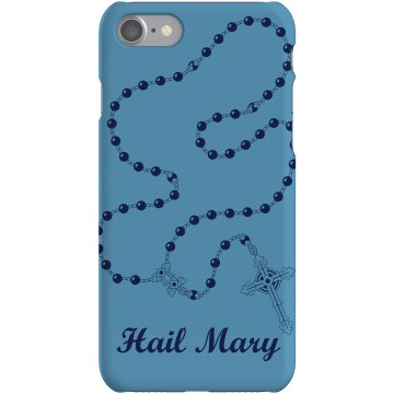 Hail Mary Rosary iPhone Plastic iPhone 5 Case White