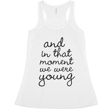 We Were Young Misses Bella Flowy Boxy Lightweight Crop Tank