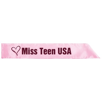 MIss Teen USA Adult Satin Party Sash