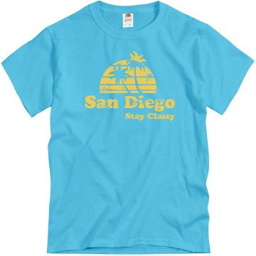 Stay Classy Unisex Gildan Heavy Cotton Crew Neck Tee
