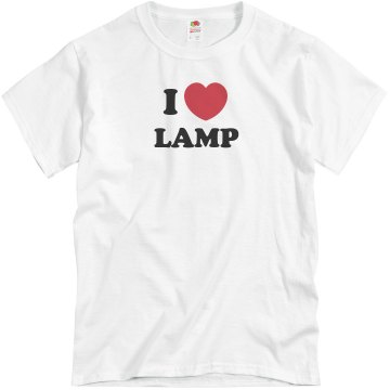 I Love Lamp Unisex Basic Gildan Heavy Cotton Crew Neck Tee