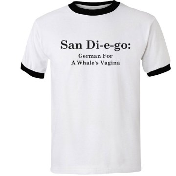 San Diego Unisex Anvil Ringer Tee