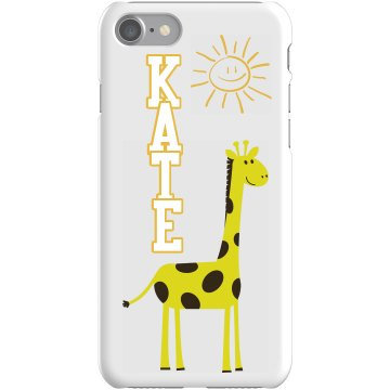 Custom Giraffe iPhone  Plastic iPhone 5 Case Black