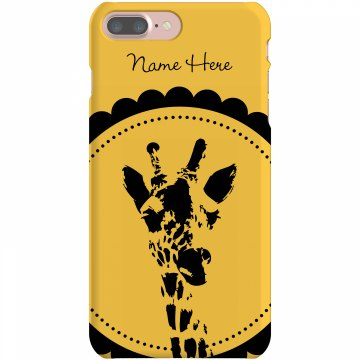 Custom Giraffe iPhone Plastic iPhone 5 Case White