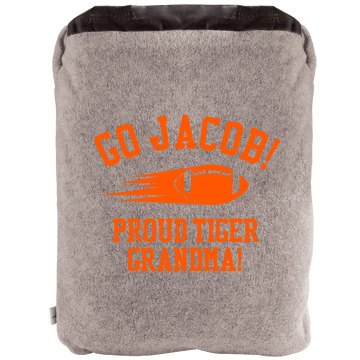 Proud Football Grandma 2-in-1 Poly Fleece Pillow Blanket