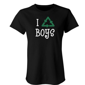 I Recycle Boys   Junior Fit Bella Sheer Longer Length Rib Tee