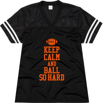 Keep Calm Football Hard Junior Fit Augusta Replica Football Jersey