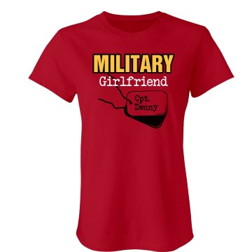 Marine Girlfriend Junior Fit American Apparel Fine Jersey Tee
