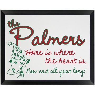Palmer Holiday Plaque Wood Plaque