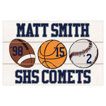 High School Sports Plaque Wood Plaque