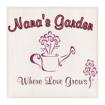 Nana's Garden Wood Plaque