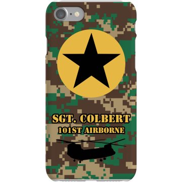 Camo Army Case Plastic iPhone 5 Case Black