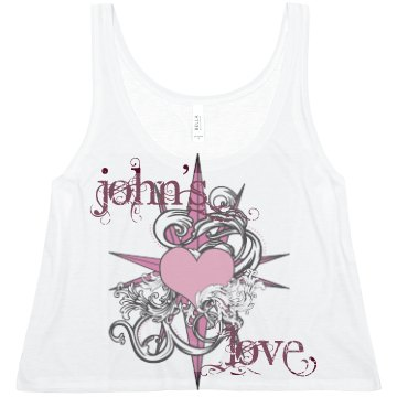 John's Love Tank Misses Relaxed Fit Port Authority Ribbed Tank