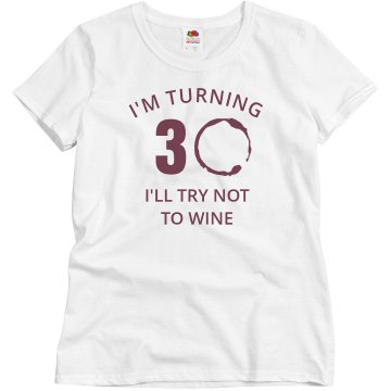 30th Birthday Bash Tee Misses Relaxed Port &amp; Company Essential Tee