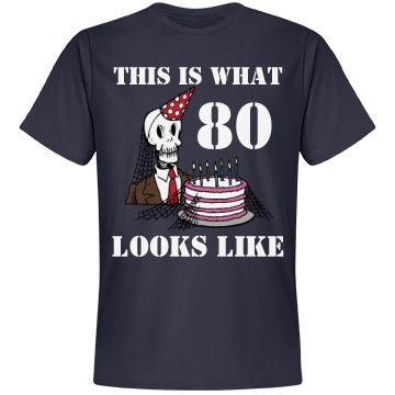 80 Is Looking GOOD Unisex Anvil Lightweight Fashion Tee