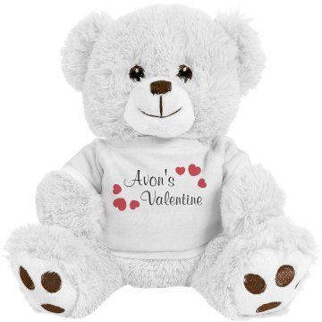 Avon's Valentine Medium Plush Teddy Bear