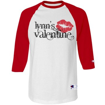 Lynn&#x27;s Valentine Unisex Anvil 3&#x2F;4 Sleeve Raglan Baseball Tee