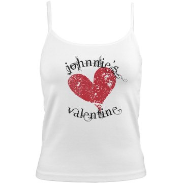 Johnnie's Valentine Bella Junior Fit Contrast Satin Trim Cami