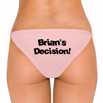 Brian's Decision w/back American Apparel Brazilian Bikini Bottom